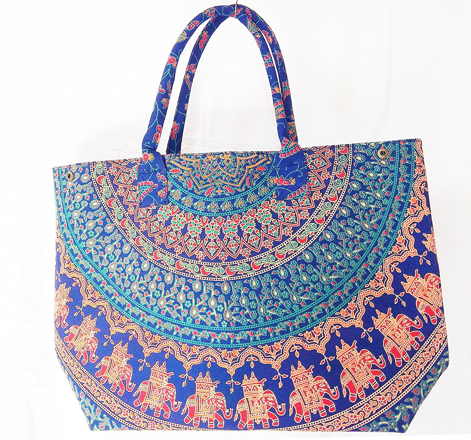 fde0b6925 Get Quotations · Indian Hippie Psychedelic Bohemian Tapestry Cotton Mandala  Designer Floral Bags For Women Handmade Boho Hobo Tote