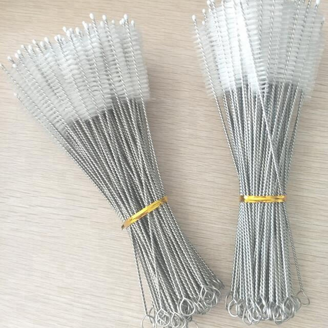 Cleaning <strong>brush</strong> for bamboo/stainless steel/glass drinking straw