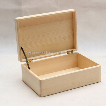 Unfinished wooden boxes wholesale buy unfinished wood for Craft boxes with lids