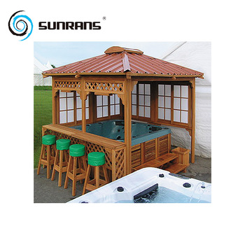 Cheap Prefabricated Outdoor Wooden Spas Gazebos