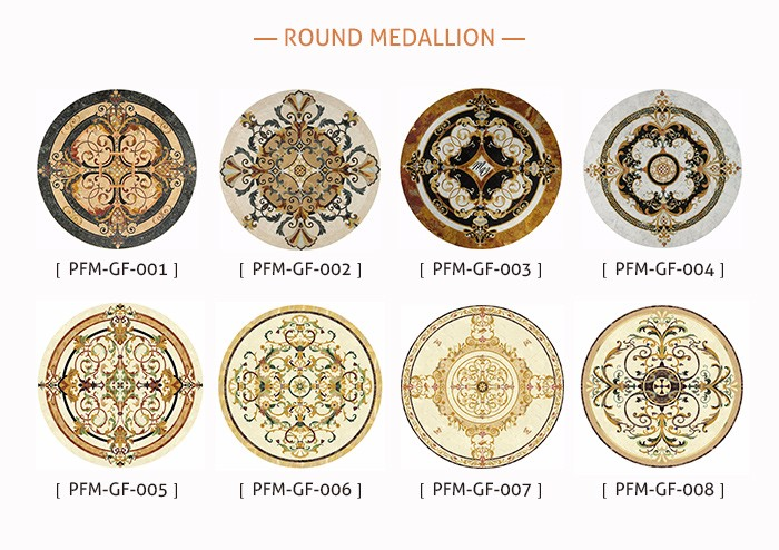 stone red moreroom medallion waterjet carpet cream detail marble product round