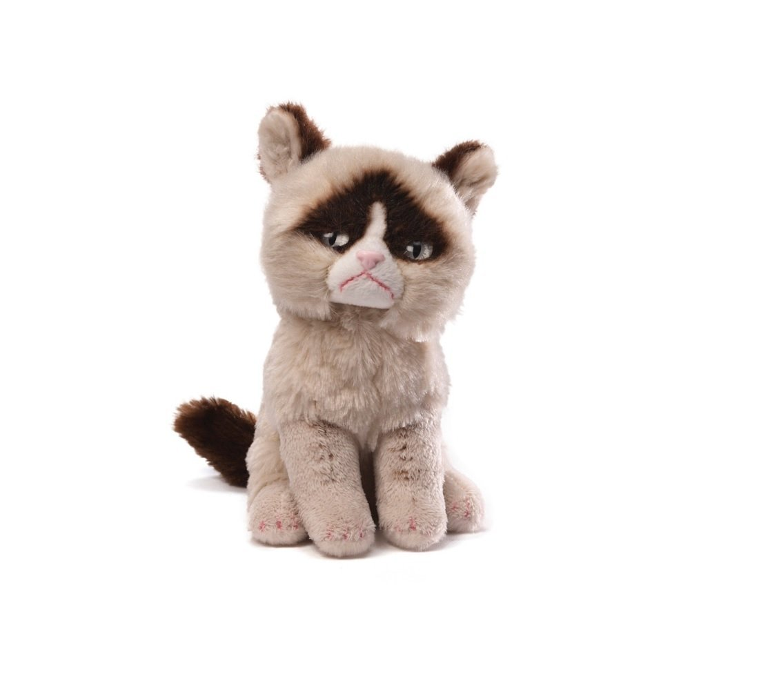 Grumpy Cat Original Plush Stuffed Animal Toy with Sticker Book