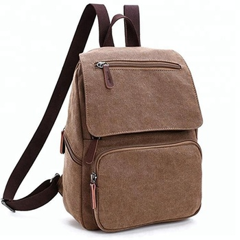 Fashion Custom Style Cheap Casual Lightweight Canvas Backpack Laptop