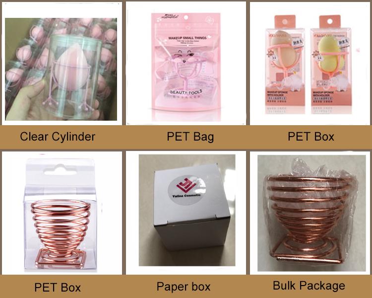 OEM Box Pack Logo Blender Drogen Schoonheid Spons Blender Organizer Stand Opslag