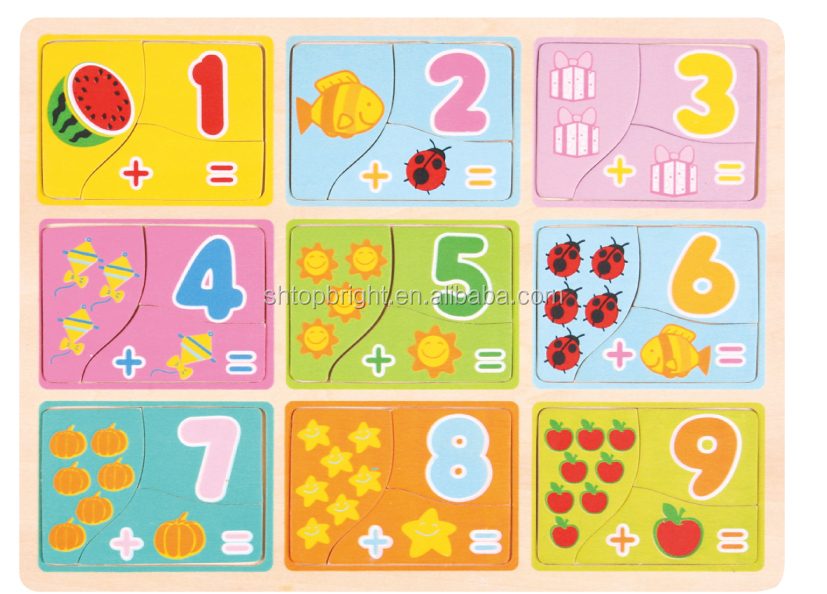 New China Products For Sale Wooden Numbers Chunky Puzzle Toys For ...