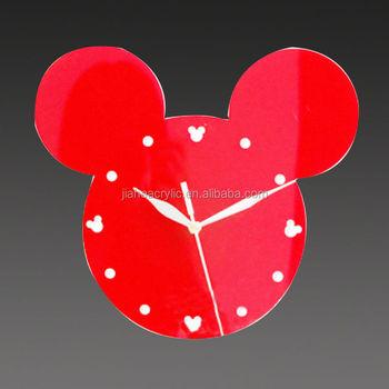 Mickey Mouse Acrylic Wall Clock Buy Wall Clock Acrylic