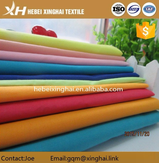 2016 High quality polyester cotton shirting fabric for men make to order