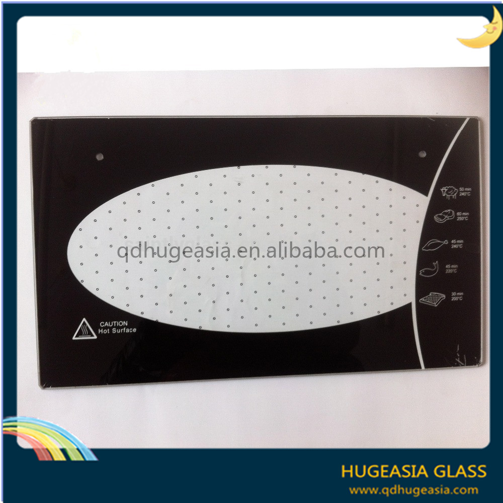 4mm 5mm Heat Soak Toughened Tempered Oven Glass with Silk Screen Printing