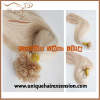 U tipped keratin bonded hair extension