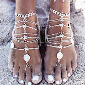 02aa72ed304cc Sexy Slave Anklets Chain Sandal Foot Bracelets