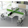 Hot selling Office Furniture Desk Office Workstation 4 People Staff Working Desk With Mobile Cabinet