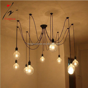 Top selling hotel bar black industrial cheap retro vintage hanging pendant lamp