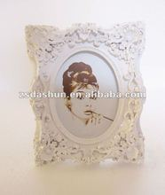 Ds-0040p european style bianco photo frame cornice