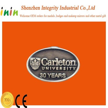 High quality best price metal souvenir coin for Carleton university 30 years