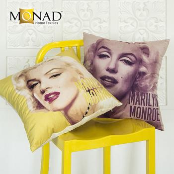 Monad Hotel Decorative Yellow Marilyn Monroe Sofa Pillows Covers 24x24