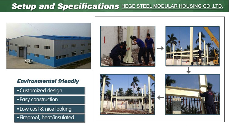 2017 design manufacture workshop warehouse steel structure building with CE Certification