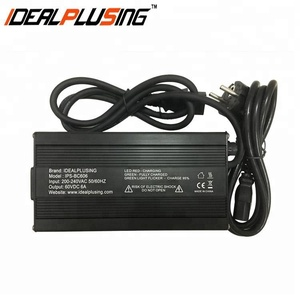 Easy to use 60v 6a Battery charger for lead-acid/li-ion/lifepo4 battery with CE and ROHS