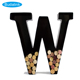 Iron wall hanging vertical letter wine stopper storage rack