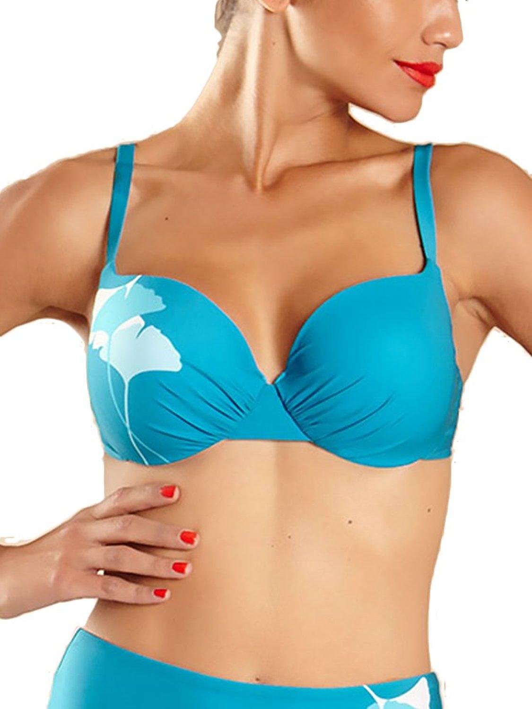 Calzedonia Suedette Underwired Bikini Grey 32B Bust Size 8-10