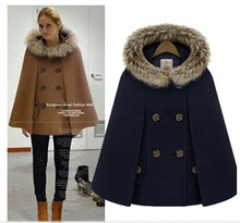 2018 autunno moda casual di lana mantello donne cappotto