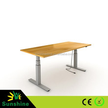Metal legs lifting tables for study, office and computure, manual and electric height adjustable desk