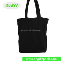 Black High Quality Blank Canvas Wholesale Tote Shopping bags