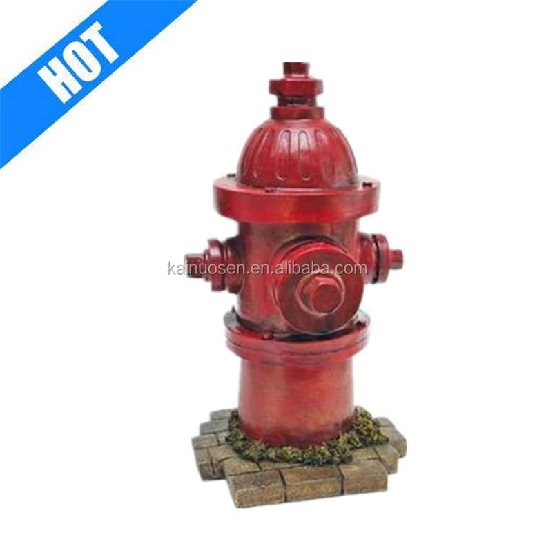 Dog Fire Hydrant Yard Garden Resin Statue