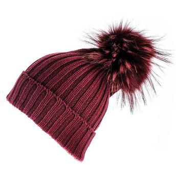 Stylish Fox Fur Pom Hat 62e8088035f
