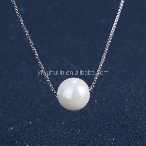 YFY136 Yiwu Huilin Jewelry modern freshwater pearl necklace wedding necklace designs silver plated necklace jewelry