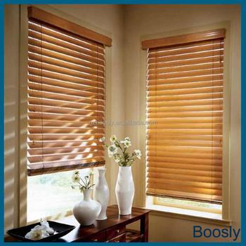 Indoor Horizontal Wooden Venetian Blinds Curtains