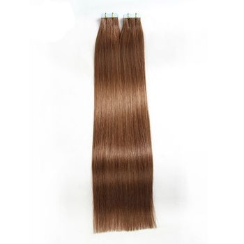 Elite 20 Inches 22 Inches In Stock # 6 Hellbraun 100% Indisches Band in Echthaarverlängerungen Tangling Free