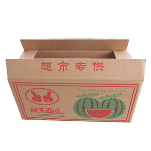 Free sample recyclable 5 layer BE corrugated paper watermelon cardboard box for fruit and vegetable packaging