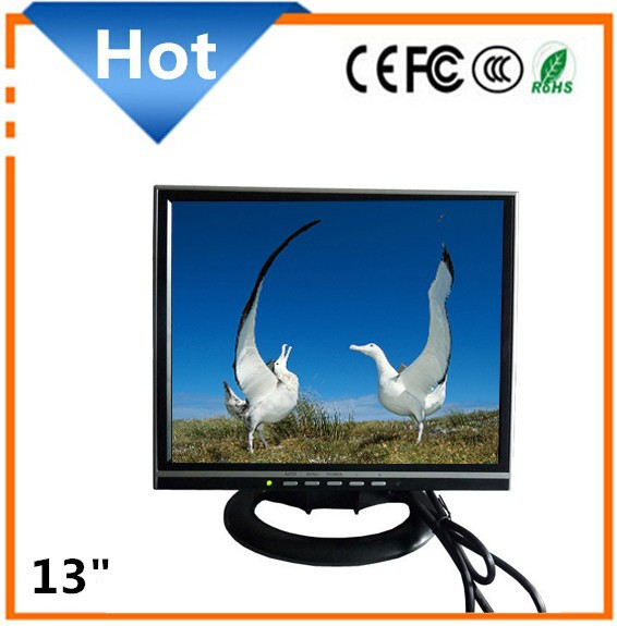 13 inch lcd monitor with av input No frame LCD monitor