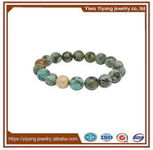 Natural Lava Stone Bead Bracelet Buddha Style Bangles for Male Female