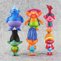 EMS 50sets lot 6pcs set Dreamworks Trolls Poppy DJ Suki Guy Diamond Cooper Branch Creek PVC