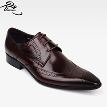 Latest newest Italian brogue men shoes genuine leather dress shoes pictures