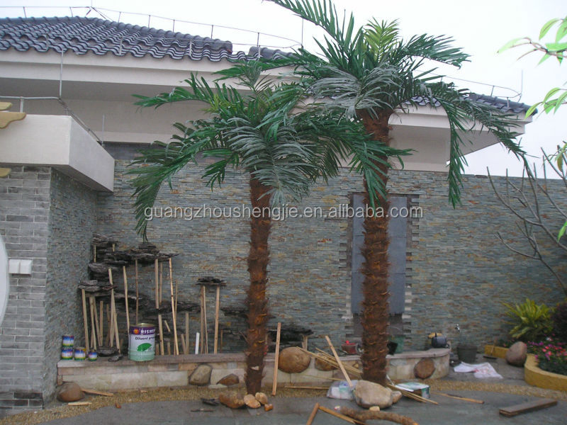 artificial outdoor palm tree table decorations in 2014