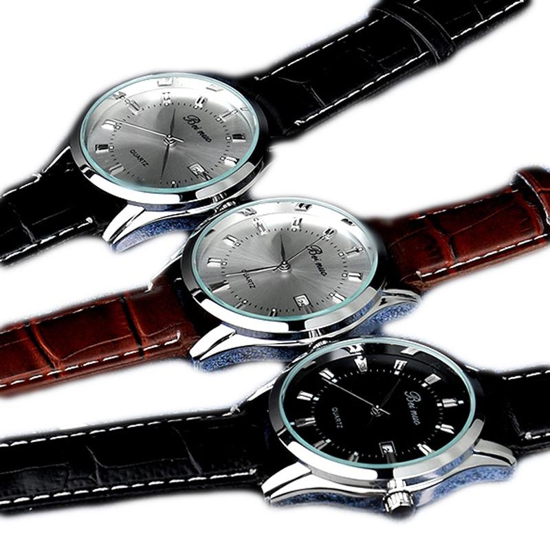 Мужские кварцевые точность нержавеющей стали военные часы бизнес наручные часы водонепроницаемые горячая распродажа 3 цветов