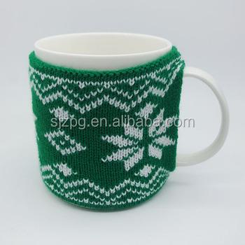 Christmas Gift Hot Sale Hand Knitted Hand Protector Mug Sleeve Buy