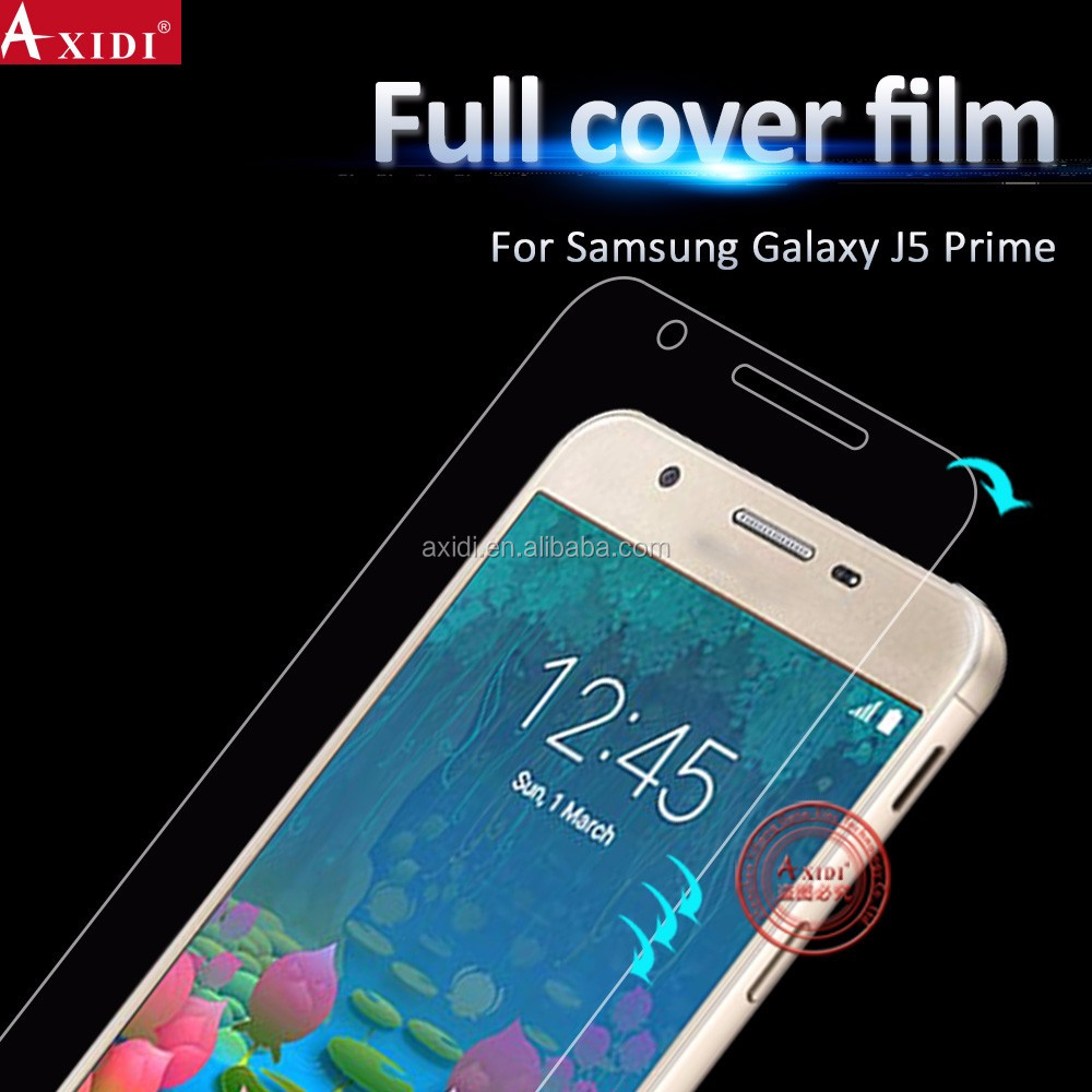 Perfect Fit TPU Anti Broken Yellow Screen Protector Guard for Samsung J5 Prime