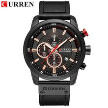 Новые часы для мужчин, люксовый бренд CURREN, хронограф, мужские спортивные часы, высокое качество, кожаный ремешок, кварцевые наручные часы, ...(Китай)