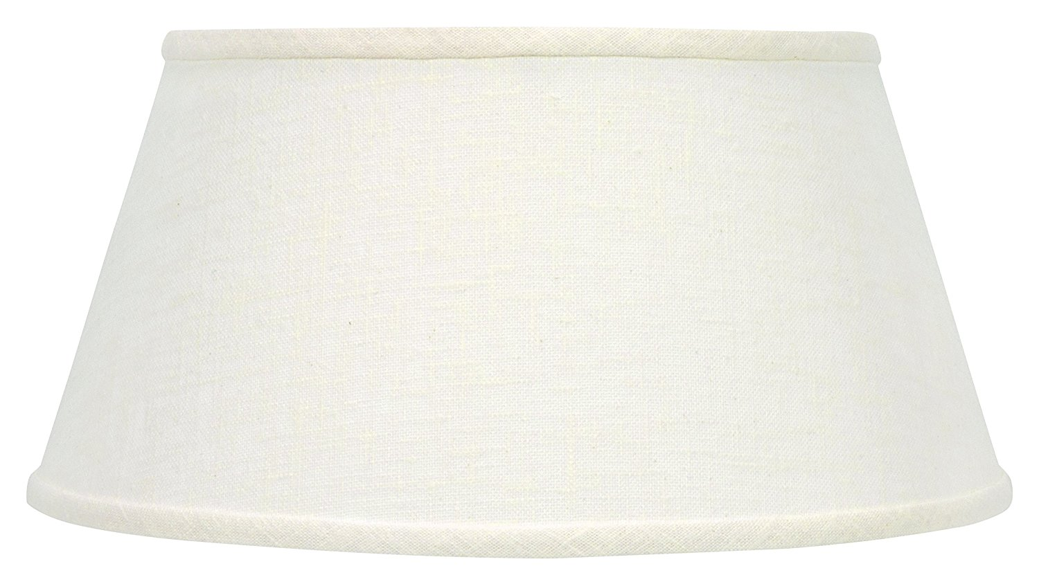 Upgradelights Bouillotte Lamp Shade 14 Inch White Linen