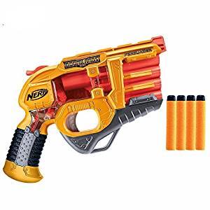 Nerf Elite Persuader Dart Blaster Soft Bullet Gun Pistol 4 Dart Nerf Gun Kids Toy Gun Best Gift