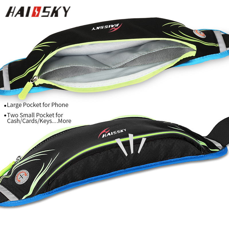 HAISSKY Running Belt Pouch for iPhone 6/6s/7 Plus,Waist Bag Pack for Women/Men,Fitness Running Holder Gear Bags