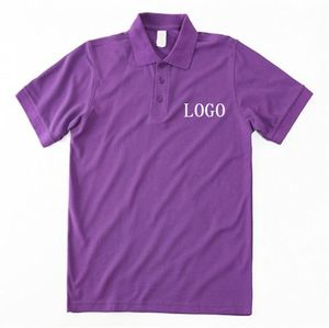 Wholesale Anti-Pilling Foam Printing 35Polyester 65% Cotton Man Polo T-Shirt