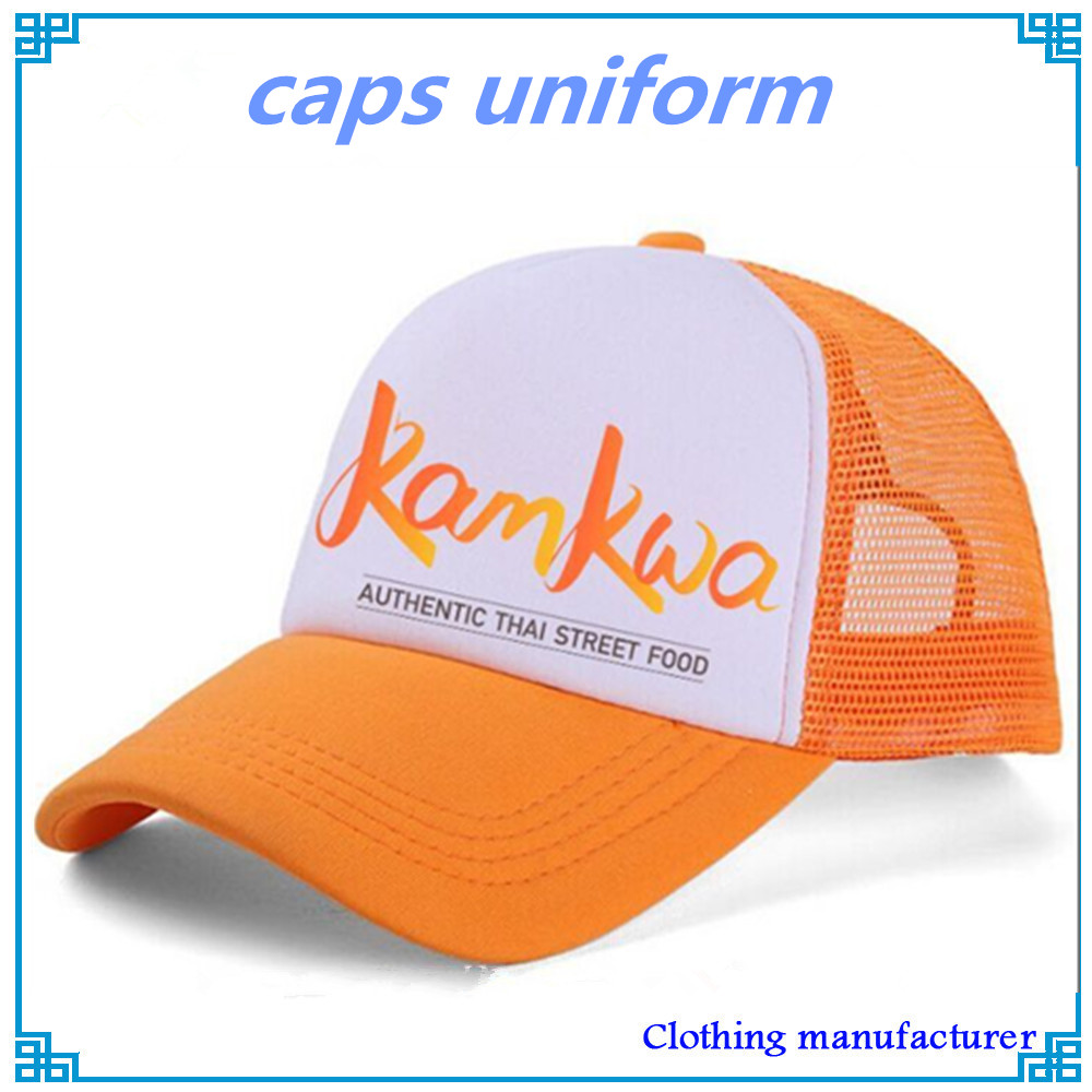 custom orange caps uniform for trucker driver