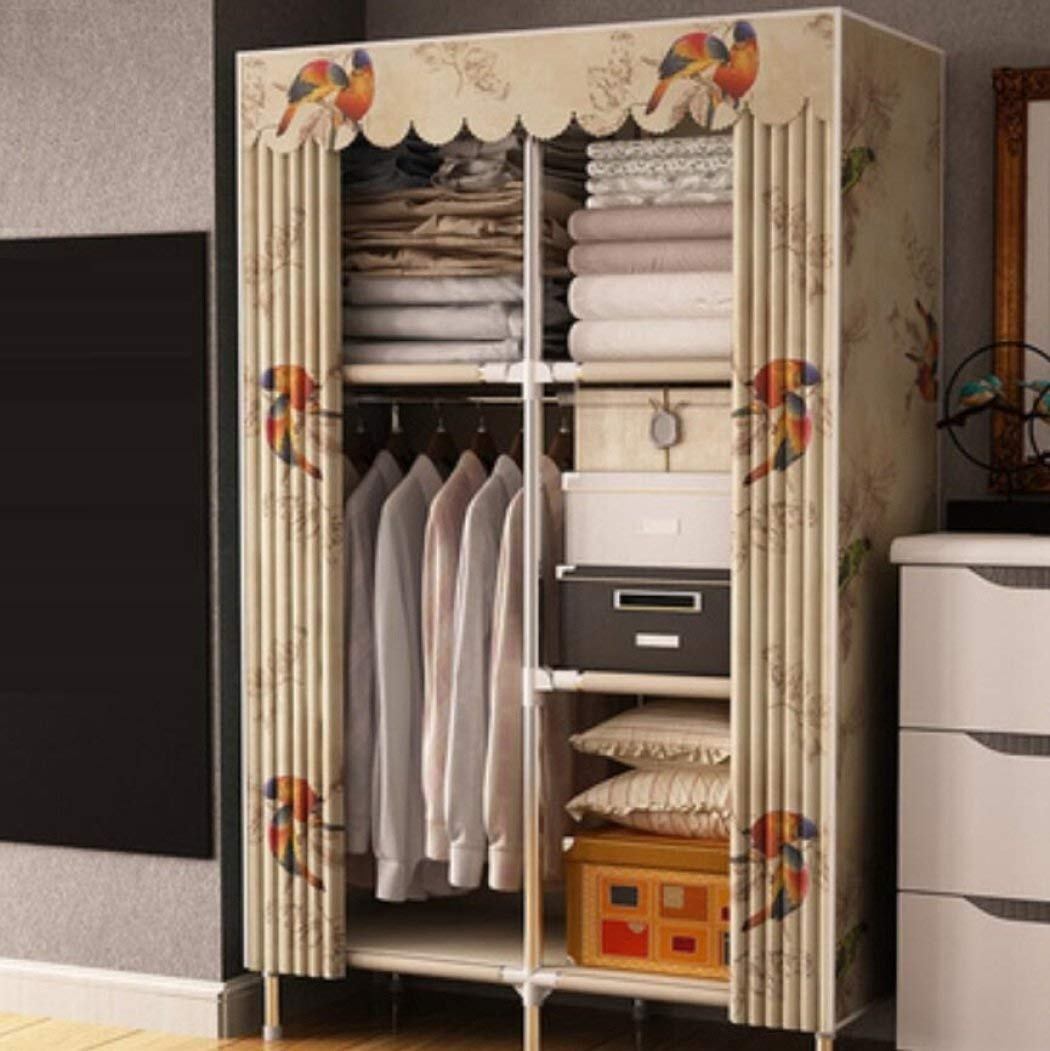 Get Quotations Lymei Folding Wardrobe Portable Storage Clothing Cabinet Fabric Hanging Removable Steel Frame
