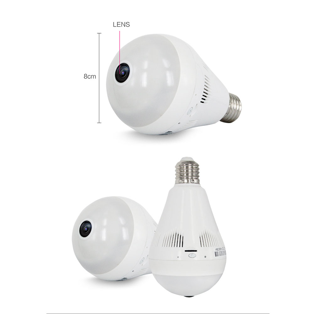LED lamp wireless hidden camera light bulb for home security using