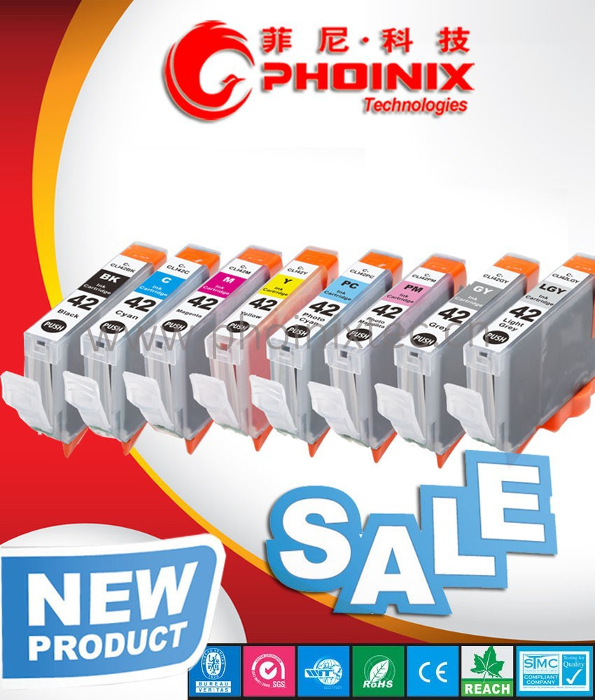 product gs compatible for canon pixma pro  printer cli ink cartridge with chip