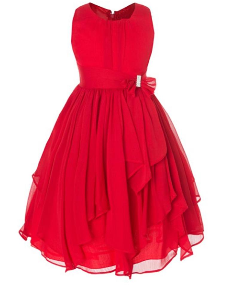 Factory wholesale multi color chiffon cheap kids girl long prom dress фото